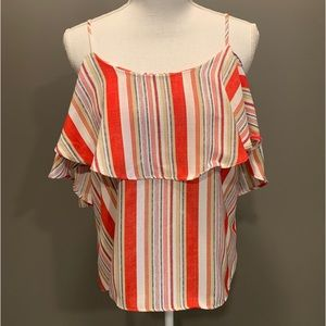 NWOT DO+BE striped top.